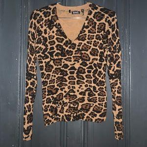 Women's leopard print sweater.